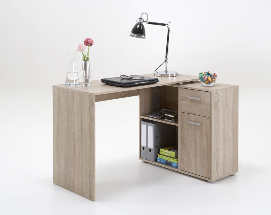 Albea Corner Wooden Computer Desk In Oaktree_1