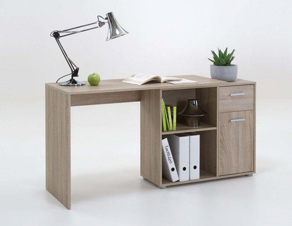 Albea Corner Wooden Computer Desk In Oaktree_2
