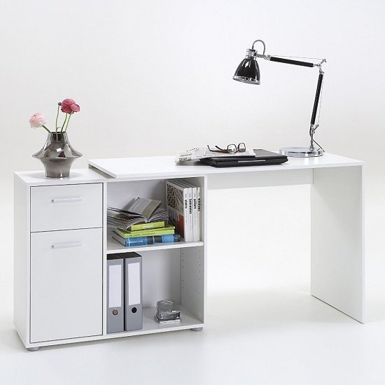 Albea Rotating Corner Computer Desk In White_2