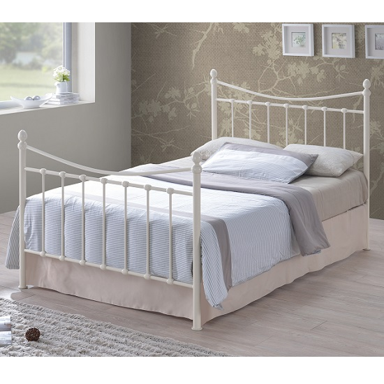 Alderley Classic Metal Bed In Ivory