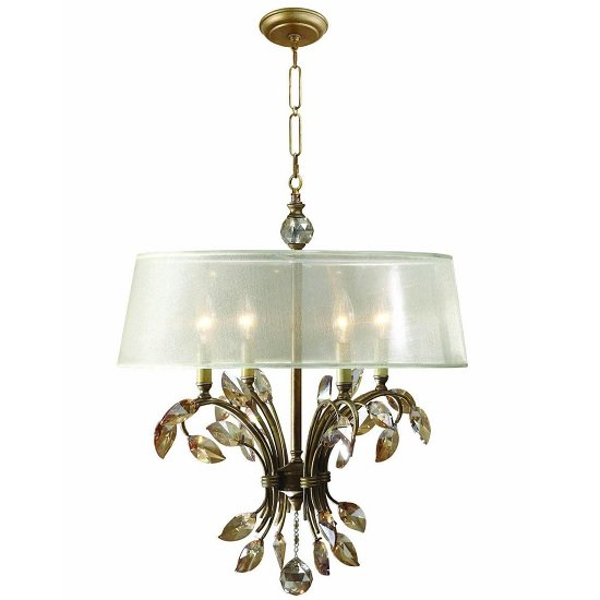 Amana Chandelier Ceiling Light In Burnished Gold Metal