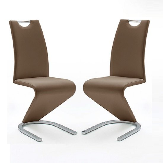 Amado Z Brown Faux Leather Dining Chair In A Pair