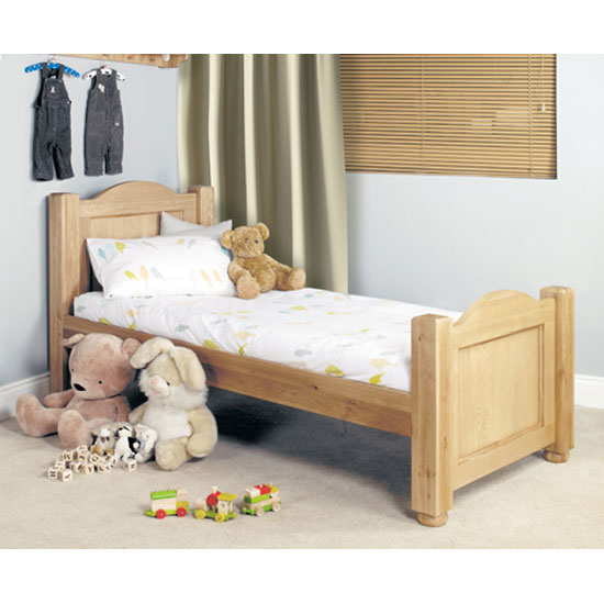 Amila Oak Wooden Childrens 3FT Standard Single Bed