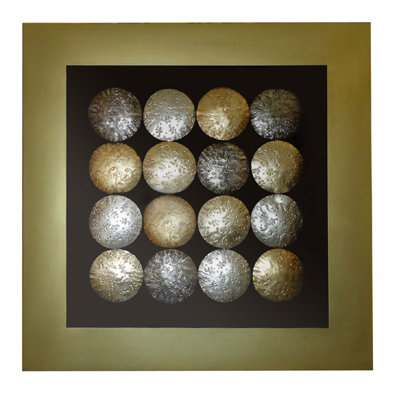 Gold Circles Wall Decor : Bronze copper gold circles wall art go furniture