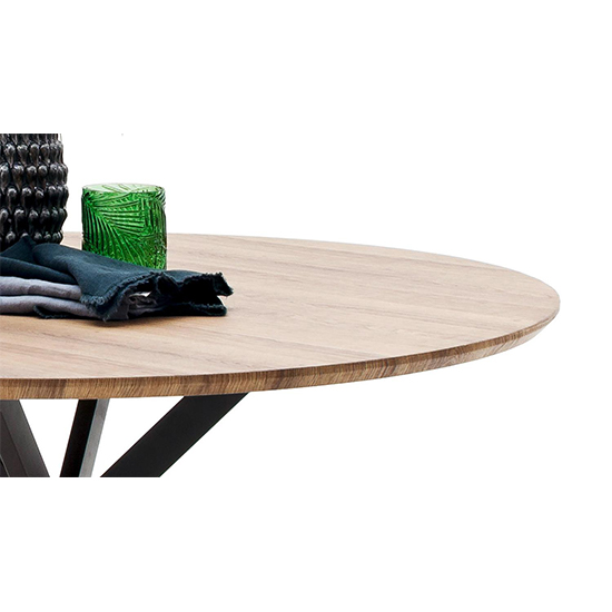 Artois Wooden Dining Table Round In Wild Oak And Anthracite Legs_3