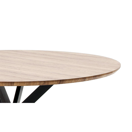 Artois Wooden Dining Table Round In Wild Oak And Anthracite Legs_4