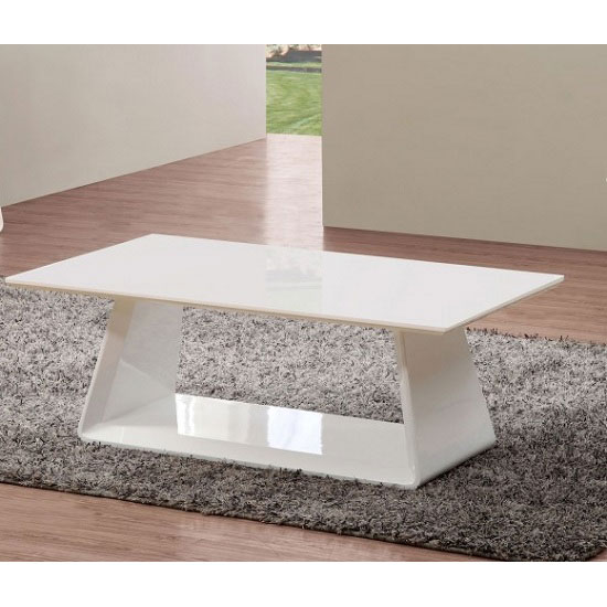 Astrik Coffee Table In White High Gloss
