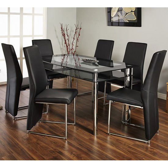 Atherna Dset - 6 Reasons To Buy Dining Table And Chairs In Black Glass
