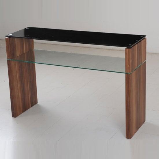 Atlanta Black Glass Console Table With Underself And Walnut : AtlantaSofaTab5119006106 from www.furnitureinfashion.net size 550 x 550 jpeg 35kB