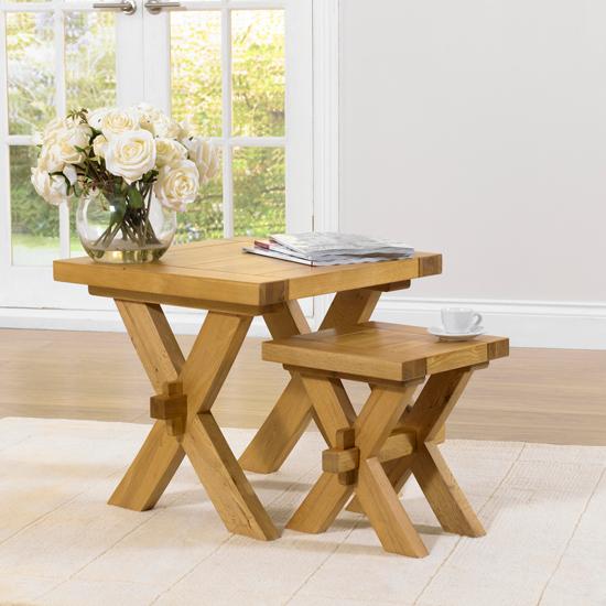 Carlotta Nesting Tables in Solid Oak