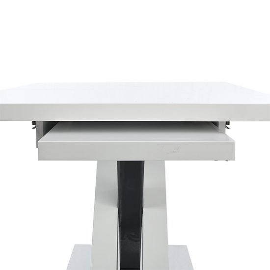 Axara Large Extendable Dining Table In White And Grey High Gloss_5