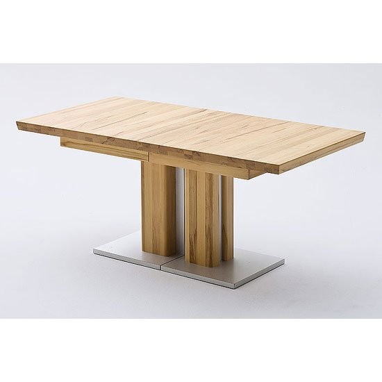 View Bari extending solid oak dining table