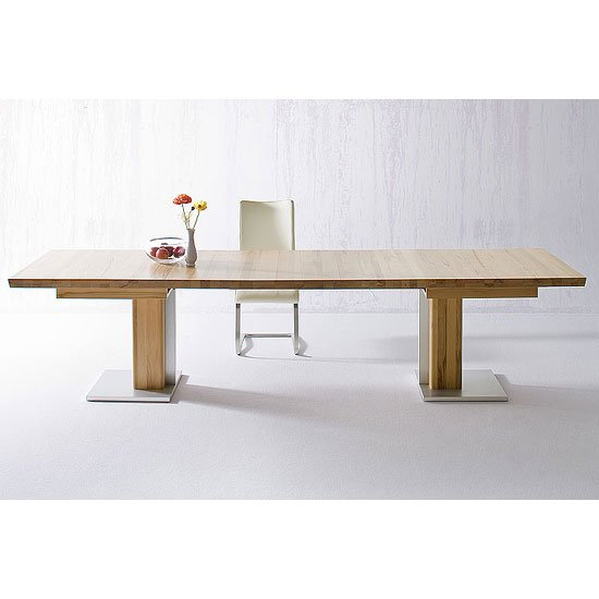 Bari Extendable Dining Table Rectangular In Solid Oak_1