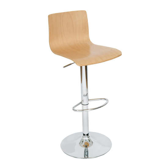 Bentwood Bar Chair in Natural, BCW-35LW