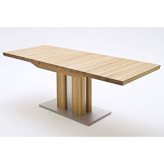 Bergamo Extendable Dining Table Wide In Solid Oak