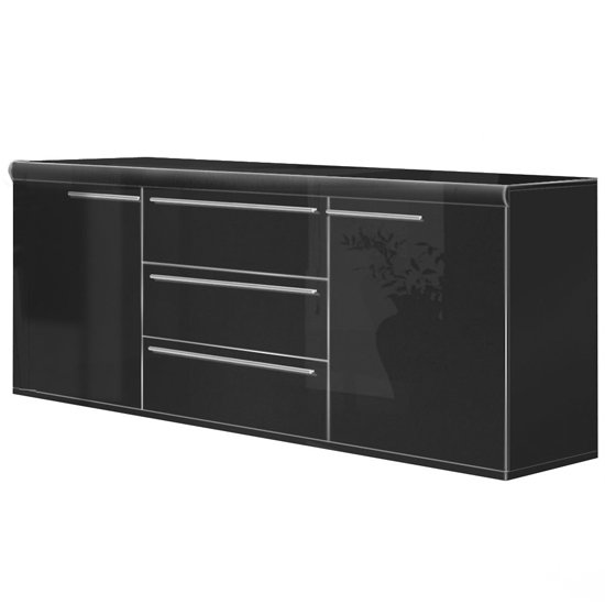 Davissa Sideboard 2 Door 3 Drawer With Chrome Handles