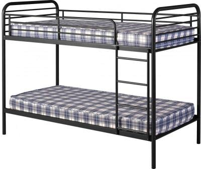 Bradley 3′ Metal Budget Bunk Bed in Black