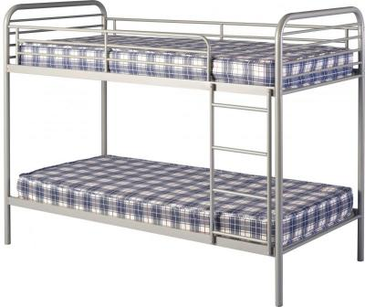 Bradley 3 Metal Budget Bunk Bed in Silver