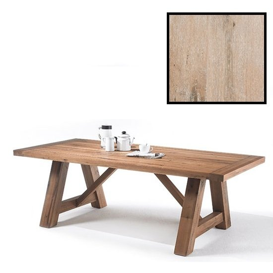 Bristol Wooden Dining Table In Solid White Oak In 180cm
