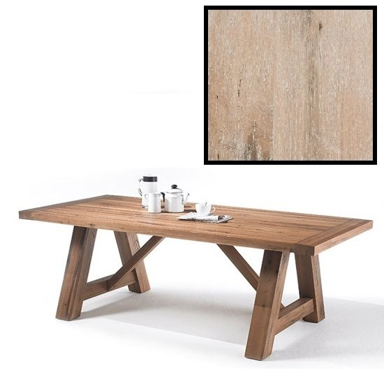 Dining Tables Bristol 220cm Dining Table In Solid White Oak With 4