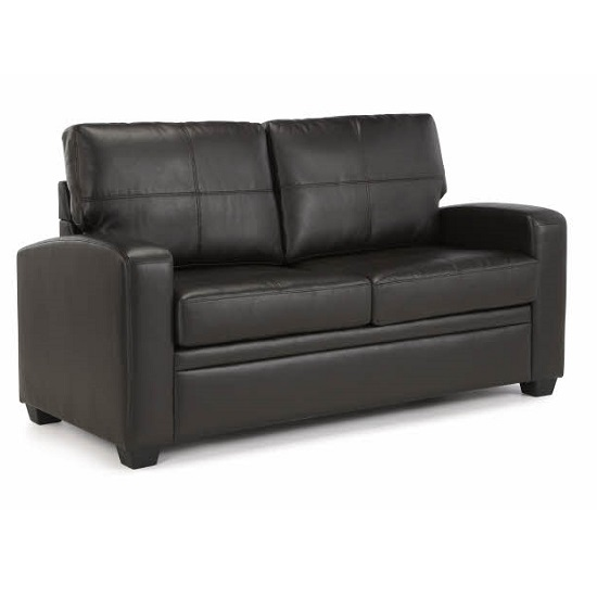 Photo of Catalina modern sofa bed in brown faux leather