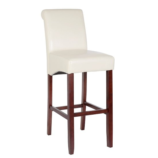 Bar Chair White Wenge legs - Kitchen Ideas: Give Bar Stools A Fresh Spin In Your Kitchen