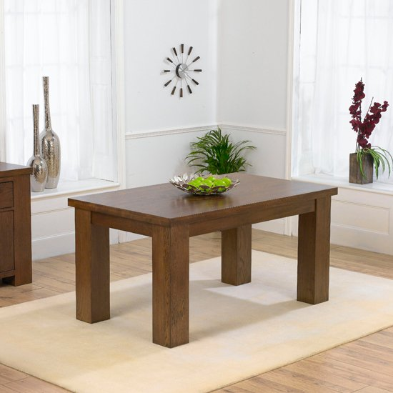Daniela 150cm Dark Oak Dining Table Only