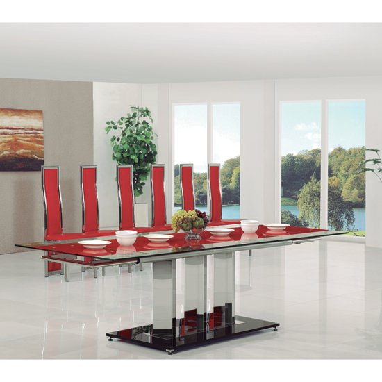 Bas Ext Table Red G 650 - How to Choose Classic Large Dining Tables