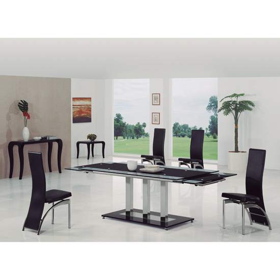 Bas Ext Table blk G 501 - How To Pick The Right Folding Dining Table For Your kitchen