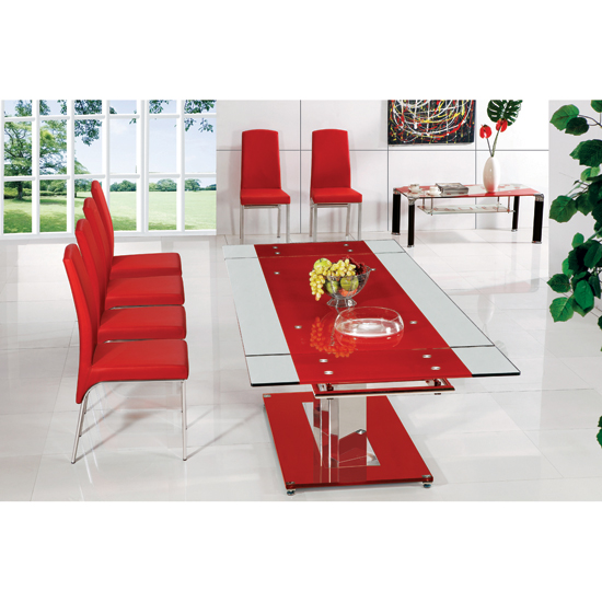 Glass Dining Tables And 8 Chairs, Furnitureinfashion UK