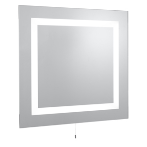 Bathroom Two Light Rectangular Wall Mirror