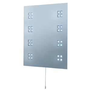 Bathroom Rectangular Mirror With Switched LED Light