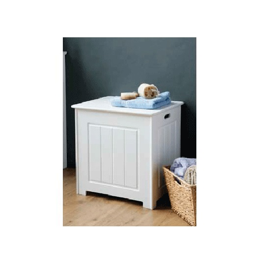 Read more about Bathroom wooden storage cabinet in white