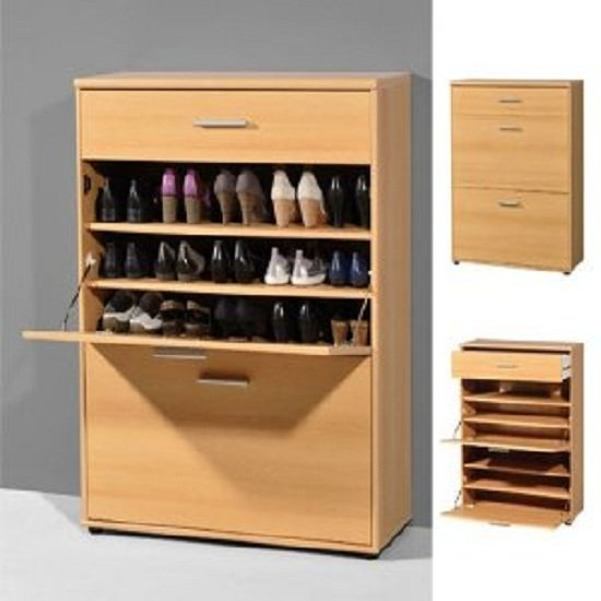 Big Foot Shoe Cabinet In Beech With 1 Drawer And 2 Compartment