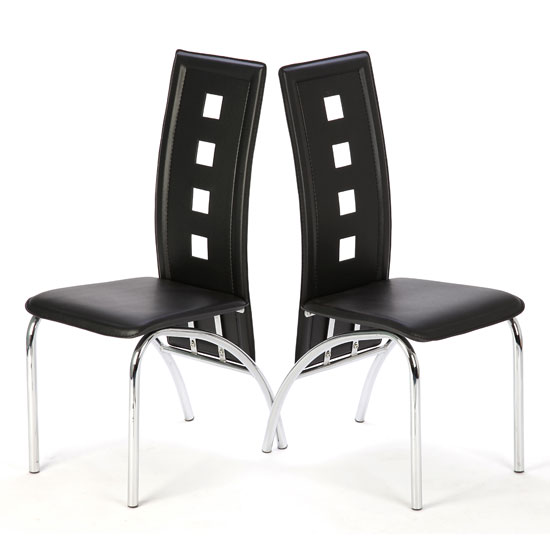 Buy Bellini Black Dining Room Chairs In A Pair Compare Prices On