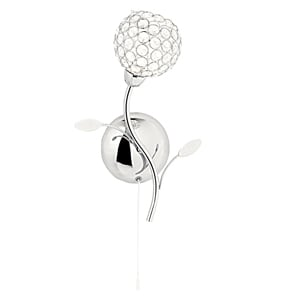 Bellis II Chrome Acrylic Ball Wall Lamp