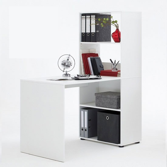 Bente White Com desk1 - 5 Things You Should Be Looking For In A Computer Desk For A Recliner