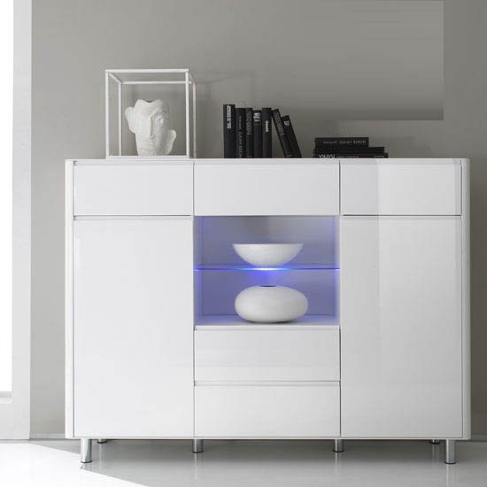 Berwick 1269 863 01SB - How To Add An Extra Contemporary Lacquered Sideboard In A Room