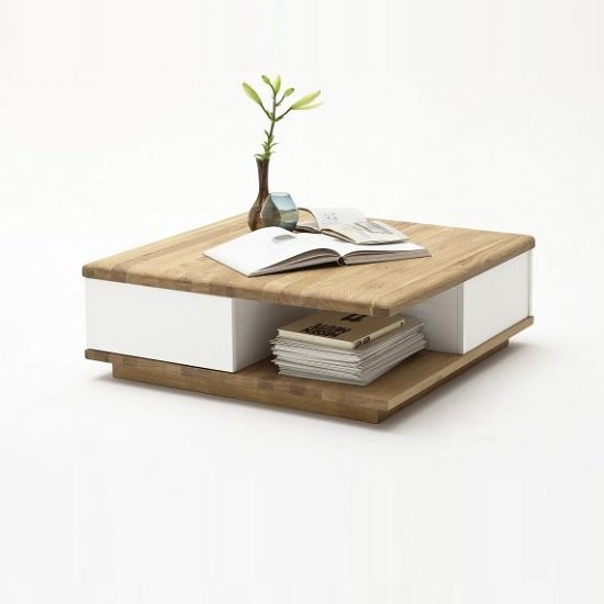 White And Oak Coffee TableCoffeTable