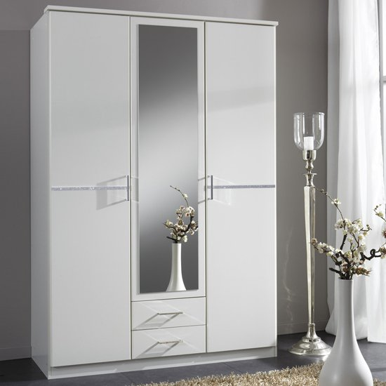 Cheap White Wardrobe With Drawers And Mirror Fif Blog