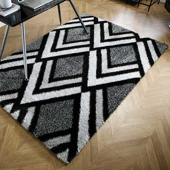 Velvet Bijoux Black And Grey Rug