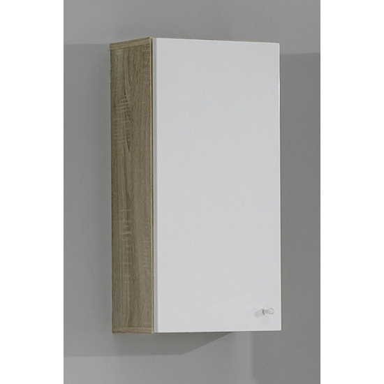 bathroom cabinets bilbao1 canadian oak gloss bathroom wall cabinet