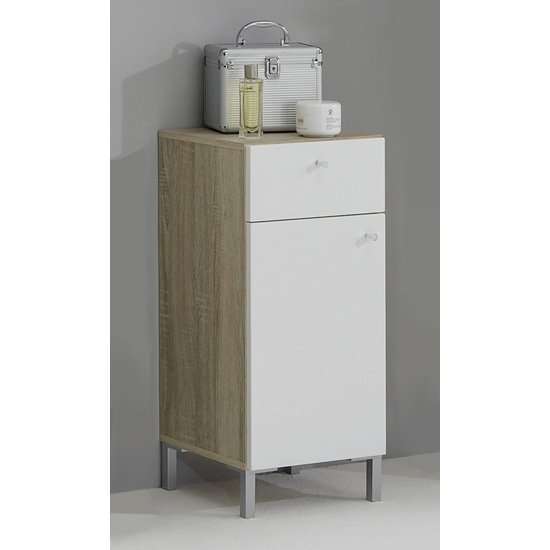 Buy cheap floor standing bathroom cabinet compare bathrooms prices for best uk deals for Cheap bathroom storage cabinets