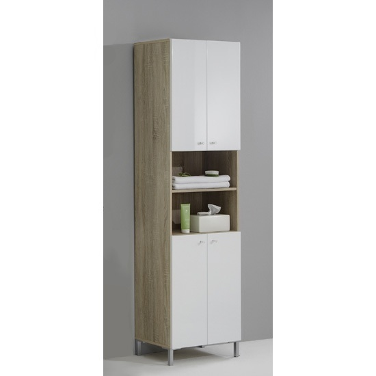 Bilbao6 Freestanding Wide Bathroom Cupboard 14753 Furniture