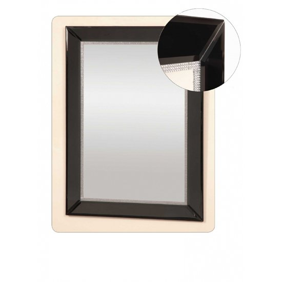 Black stripe 120x40 narrow mirror po918blk buy wall for Miroir 120x40