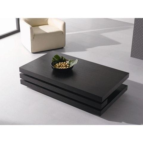 layer coffee table rectangular in black oak 24015 furniture