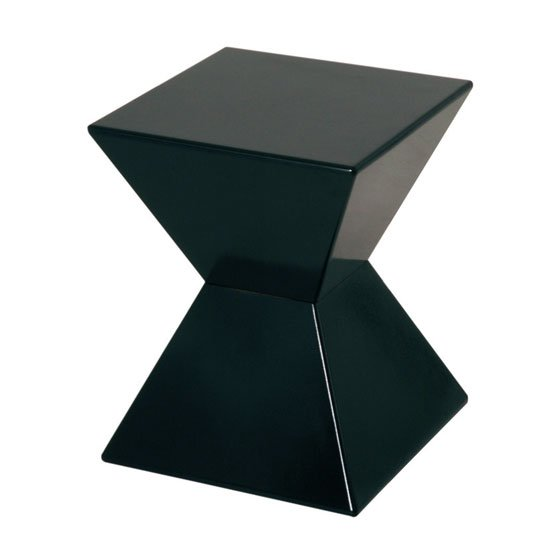 Superieur Edge Funky End Table In Black High Gloss Lacquered