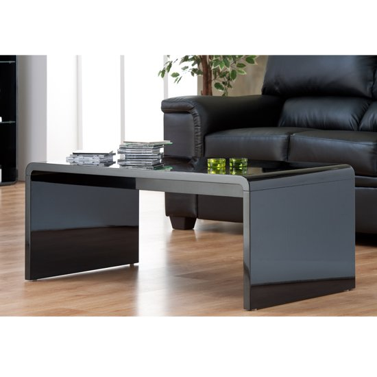 Toscana Coffee Table Rectangular In High Gloss Black 1