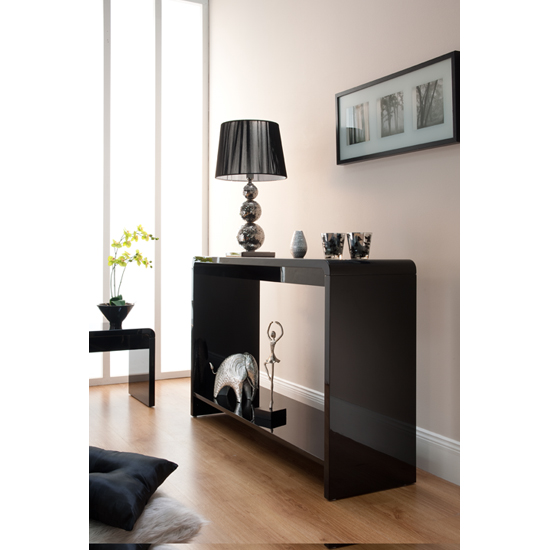 Toscana Console Table In Black High Gloss_1