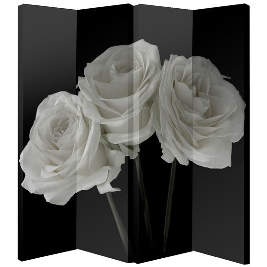 White Rose Foldable Room Divider